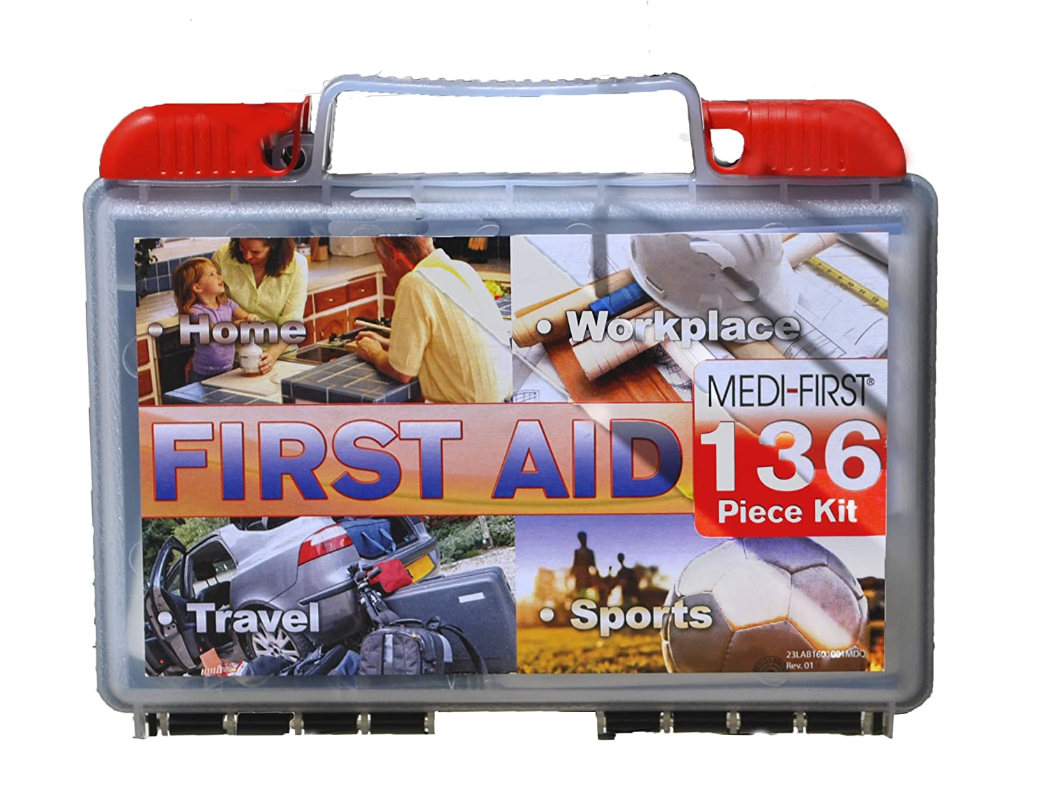 Medi-First 40136 Multi-Purpose First Aid Kit, 136-Piece Medique Products