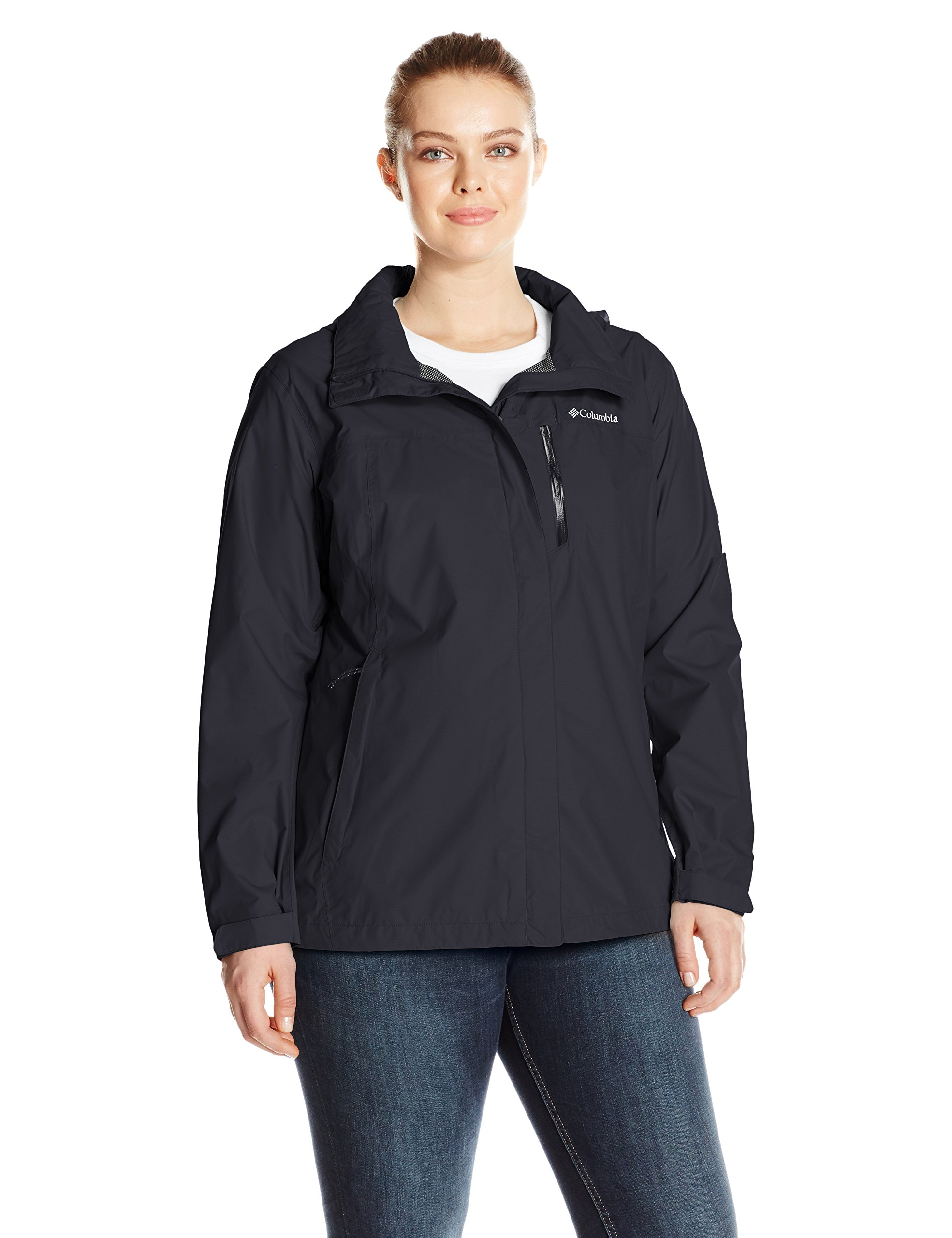 Columbia Women's Pouration Plus Size Jacket, Black, 3X