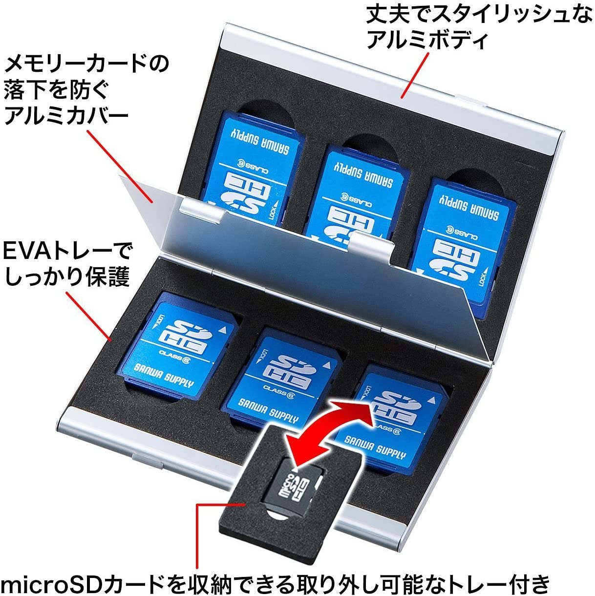 15 en 1 Tarjeta de memoria Flash de Aluminio Soporte Caja de almacenamiento caso para TF SD Micro Sim
