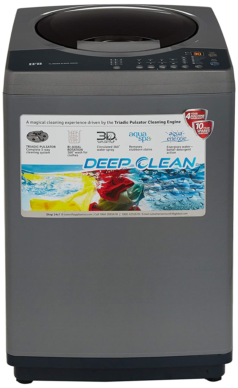 IFB 6.5 kg Fully-Automatic Top Loading Washing Machine (TL-RDS/RDSS Aqua, Sparkling Silver, Aqua Energie water softener)