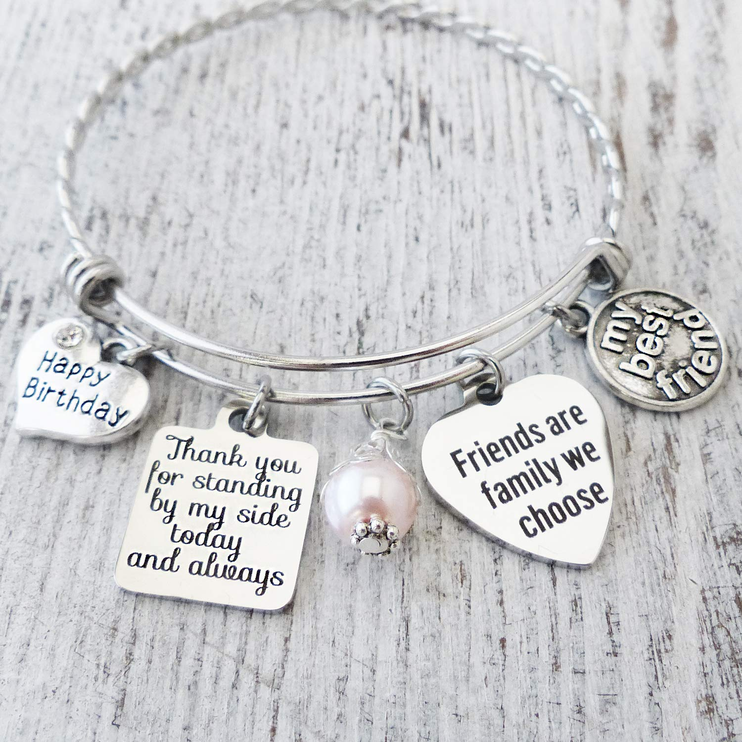 UNQJRY Bangle for Women Friendship Bracelets Inspirational Jewelry for Girls Bithday Gift