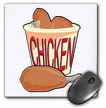 Diseño de cubo de alimentos de pollo frito – alfonbrilla para ratón, 8 por 8