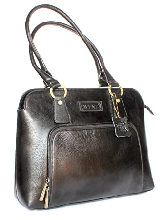 eca423af16 Buy Designer Branded Genuine Pure Leather Ladies Handbag Shoulder Bag Online  at Low Prices in India - Amazon.in