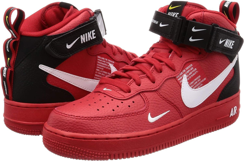 Nike Air Force 1 Mid 07 LV8 University Red White Black 804609 605