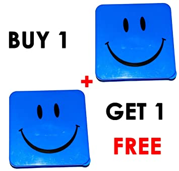 553b2ee97e45 Amazon.com : Smiley Lunch Box Buy 1 Get 1 Free (Blue) : Baby