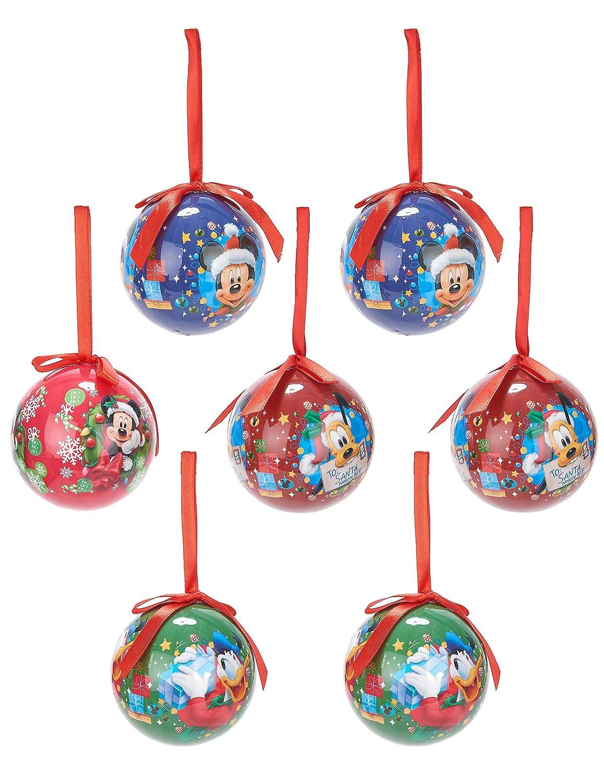 Eminza - Lote de 7 bolas de navidad disney mickey: Amazon.es ...