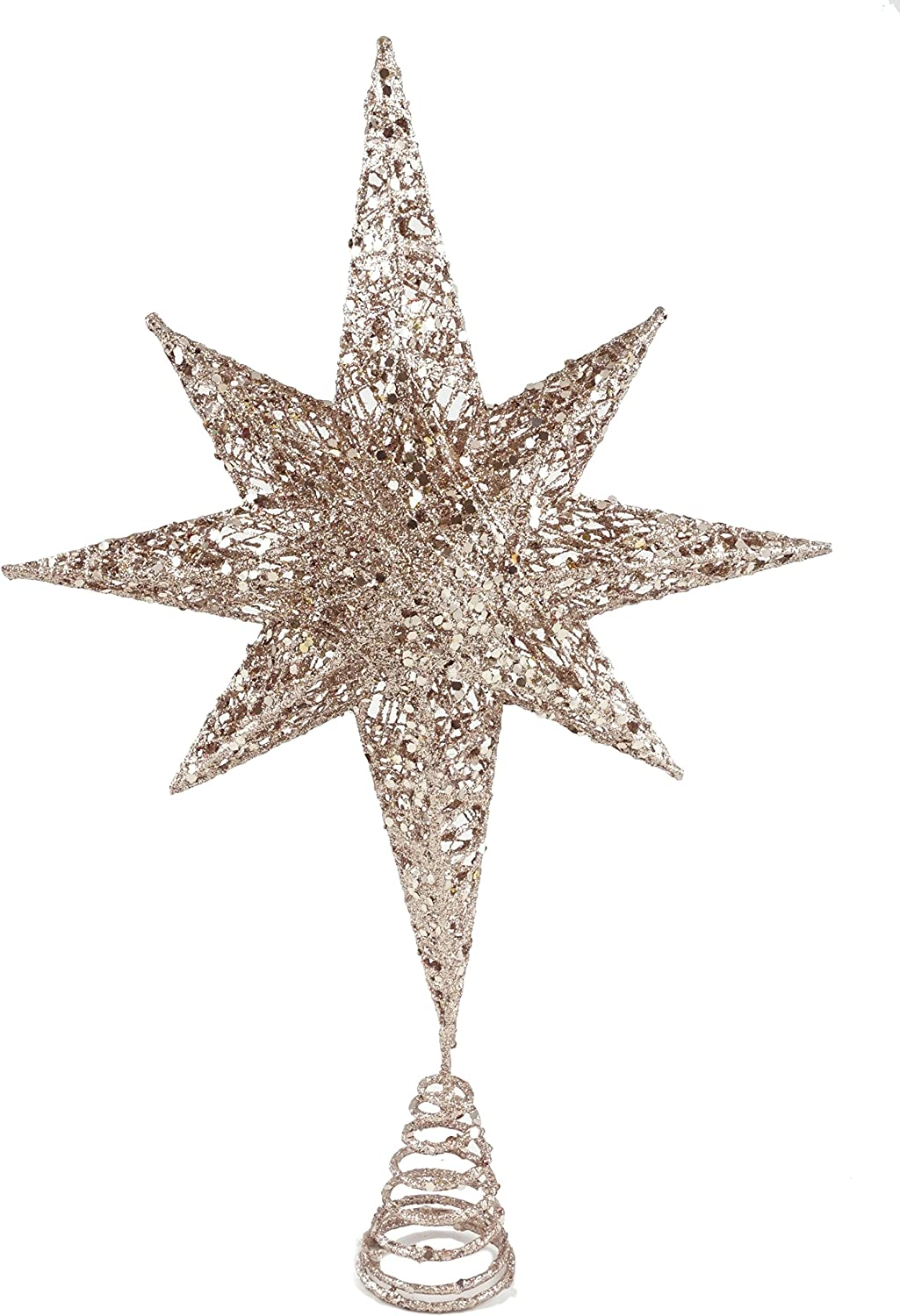 Creative Co-op Glistening North Star Christmas Tree Topper