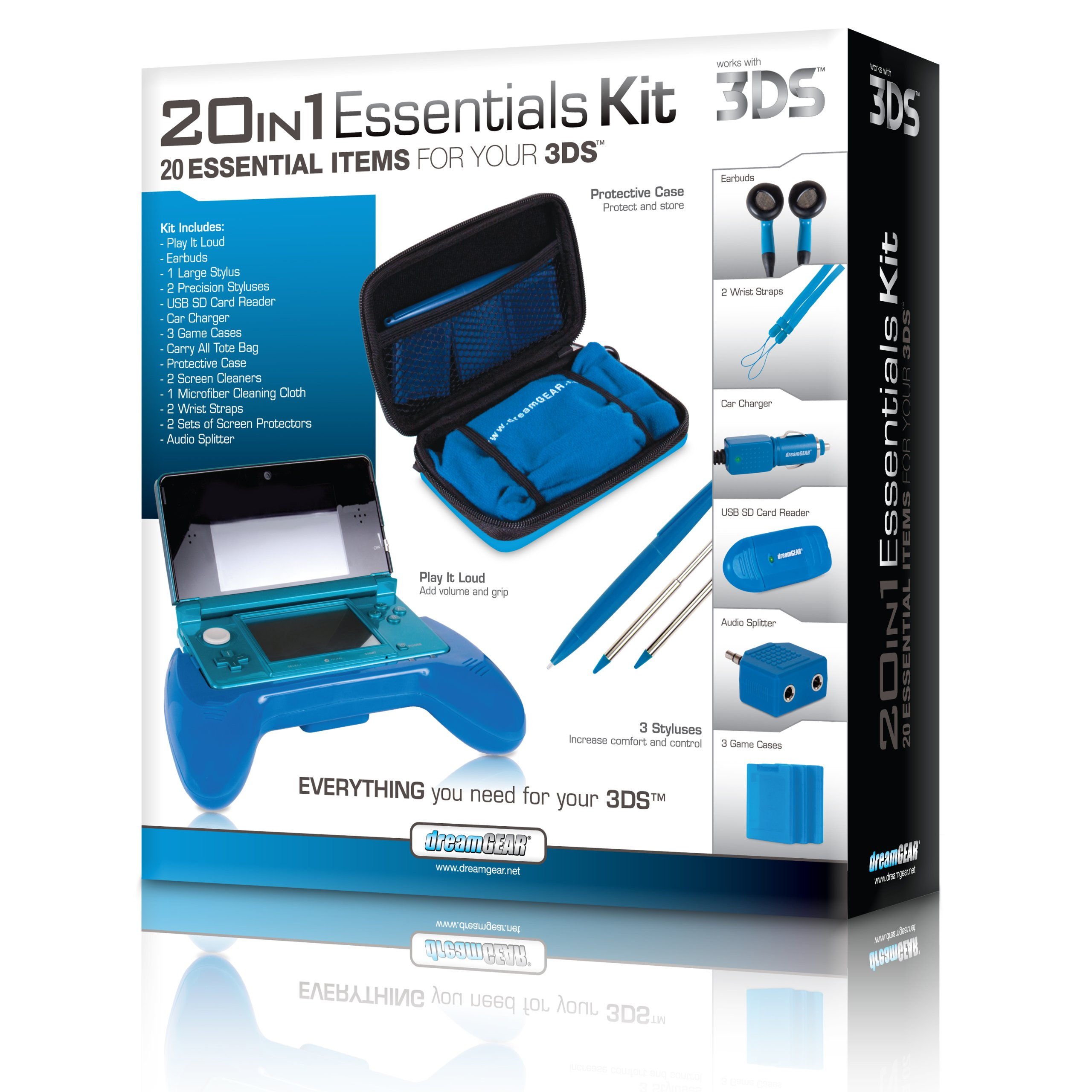 dreamGEAR Nintendo 3DS 20-in-1 Essentials Kit (blue) by dreamGEAR (Image #7)