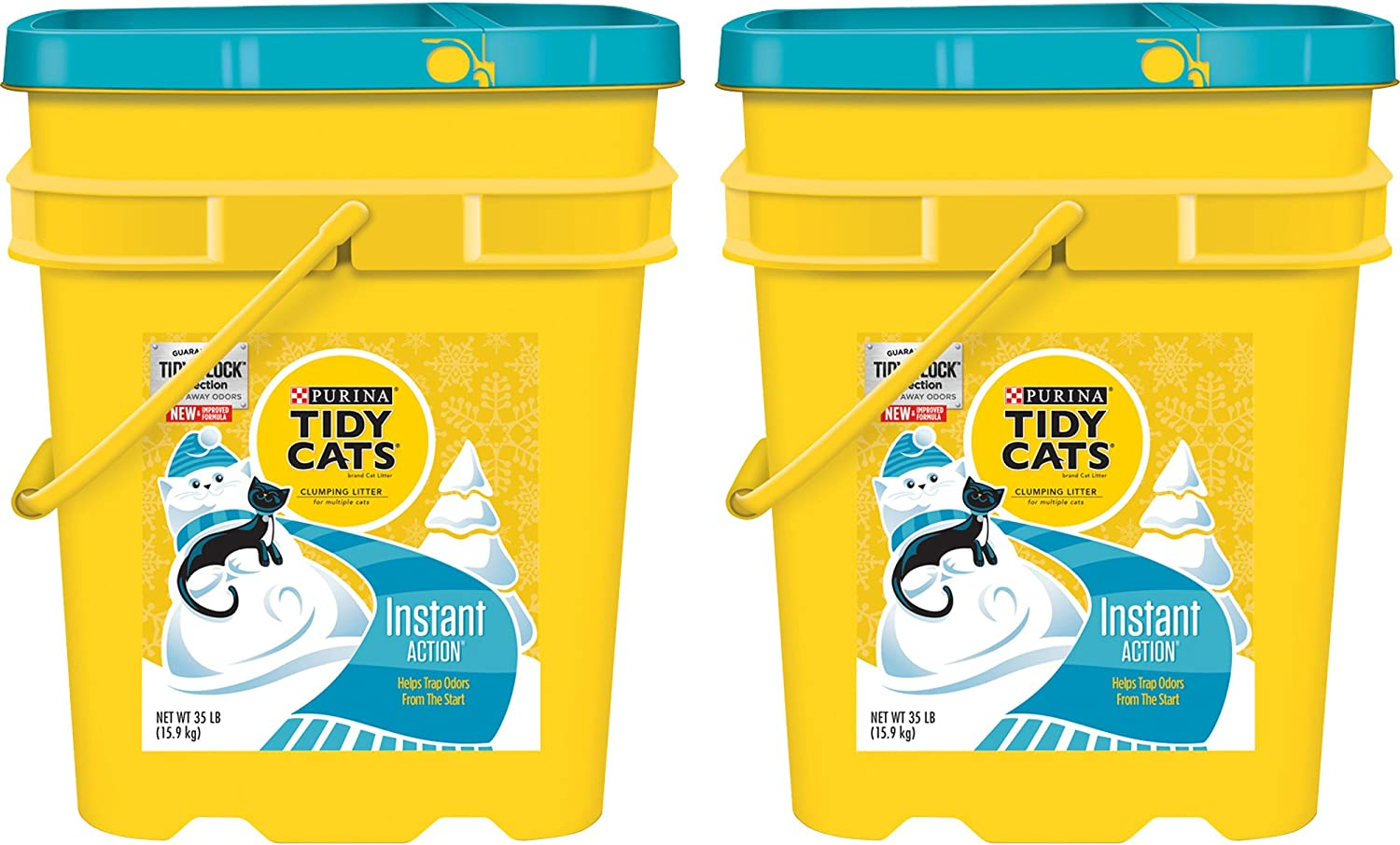 Purina Tidy Cats 35 lb Pail Clumping Litter Instant Action for Multiple Cats