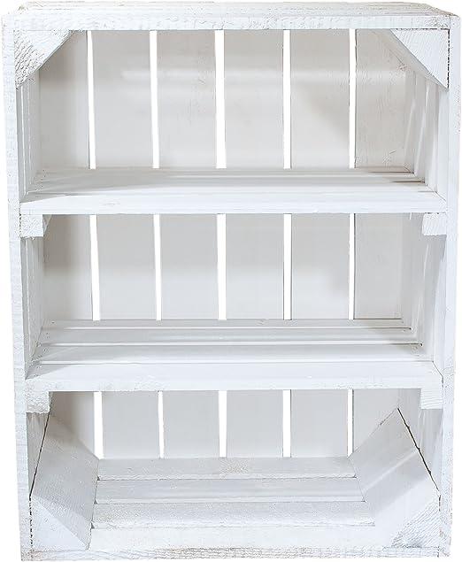 Caja blanca de madera con 2 Blancas Medio Tablas – Horizontal de ...