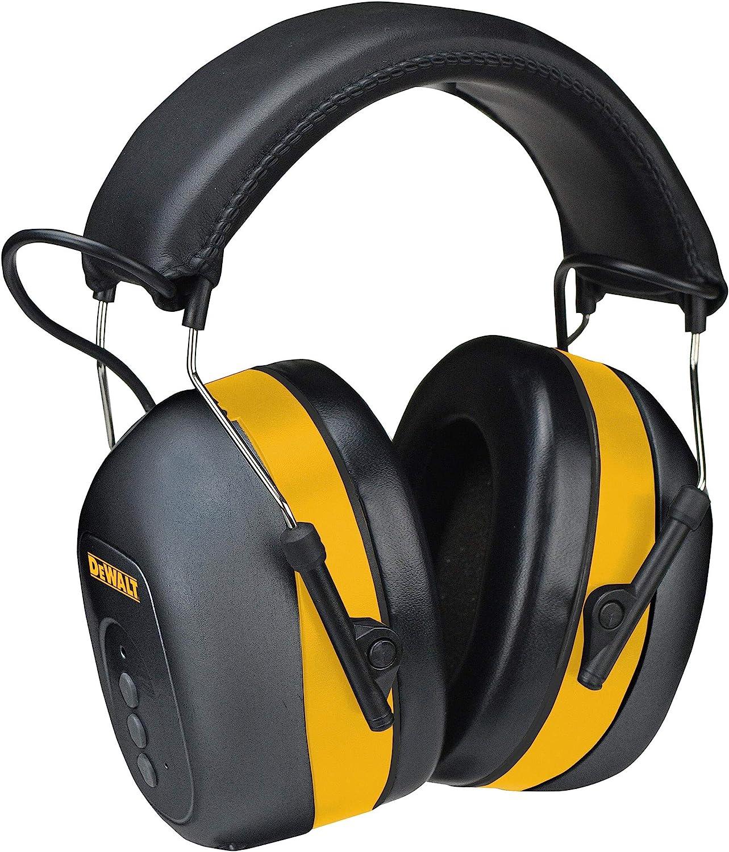 DEWALT Bluetooth Hearing Protector, Black/Yellow, Model:DPG17