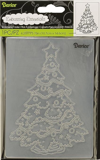 Darice Embossing Folder Tree Snowman 4.25 X 5.75 Inches