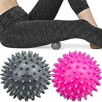 Komoyo Spiky Massage Ballen, Sport Massage Ballen Egel Ballen Massage Ballen Set voor Rug, Benen, Voeten & Handen…