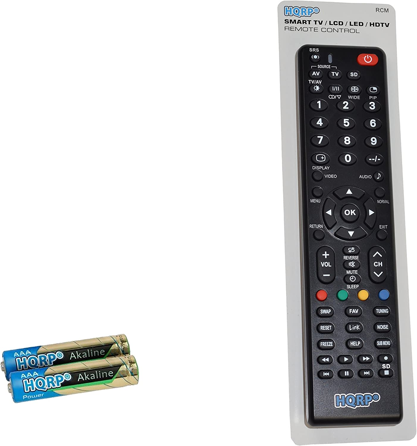 HQRP Remote Control fits Panasonic EUR7627Z20 PT-43LCX64 PT-44LCX65 PT-50DL54 PT-50LCX64 LCD LED HD TV Smart 1080p 3D Ultra 4K Plasma