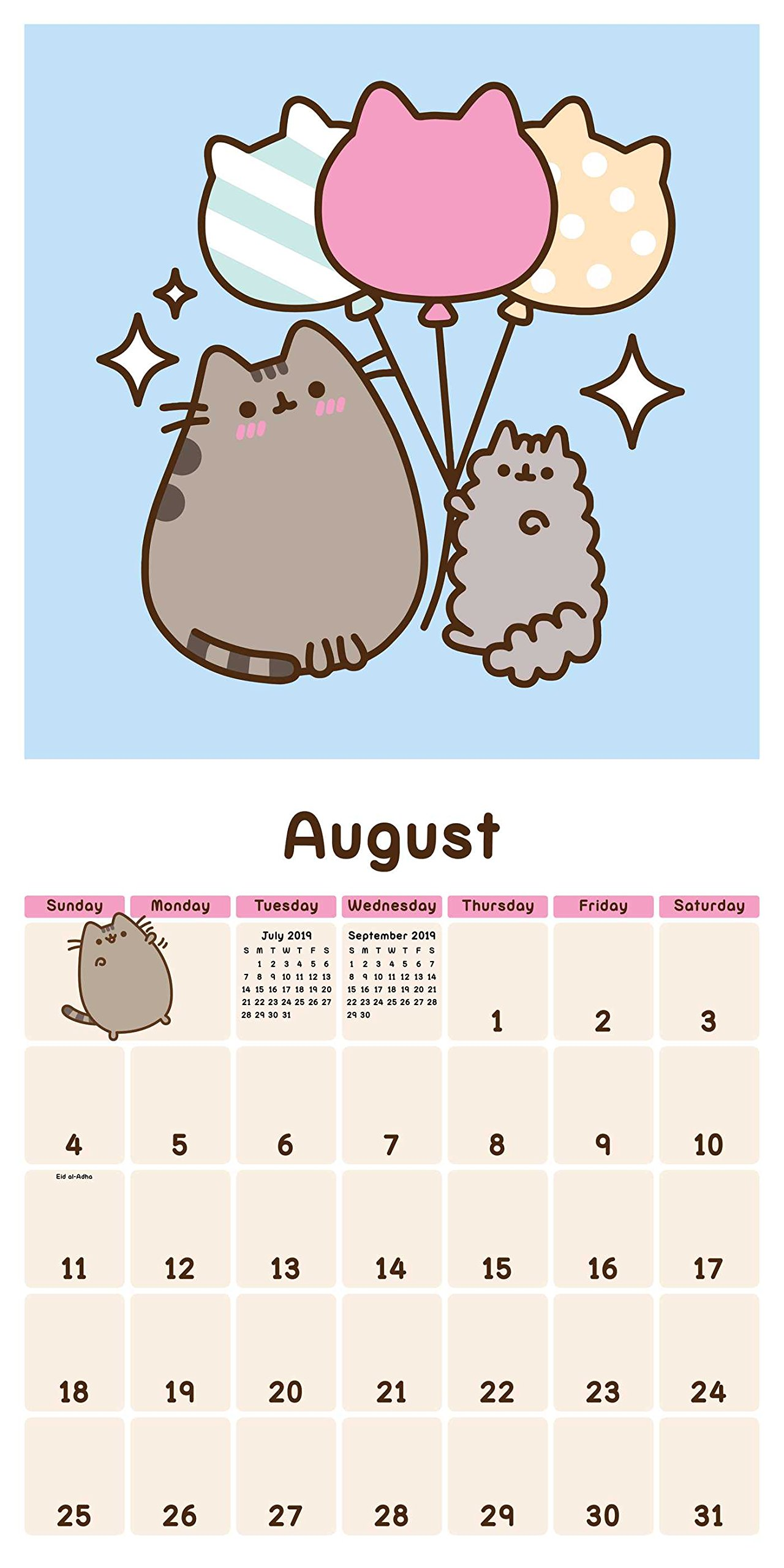 Amazon.com: Pusheen the Cat 2019 Wall Calendar ...