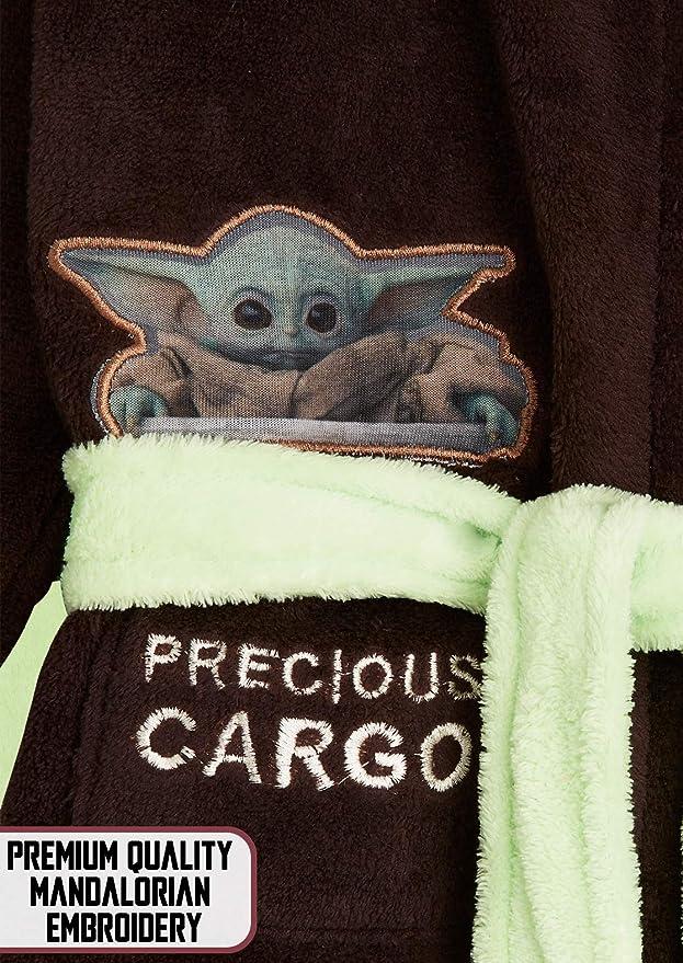 Peignoir En Polaire Avec Capuche De B/éb/é Yoda Brun, M Id/ée De Cadeau Geek Pour Adulte Ou Ado Gar/çon The Mandalorian Baby Yoda Robe De Chambre Homme