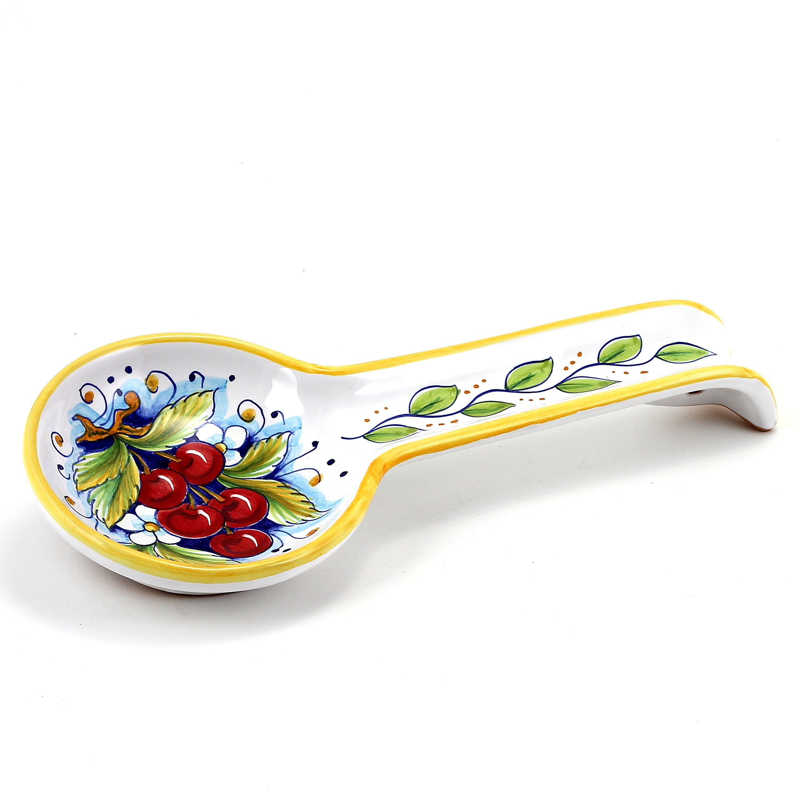 DERUTA: Spoon rest CHERRIES (also wall hung) by Deruta