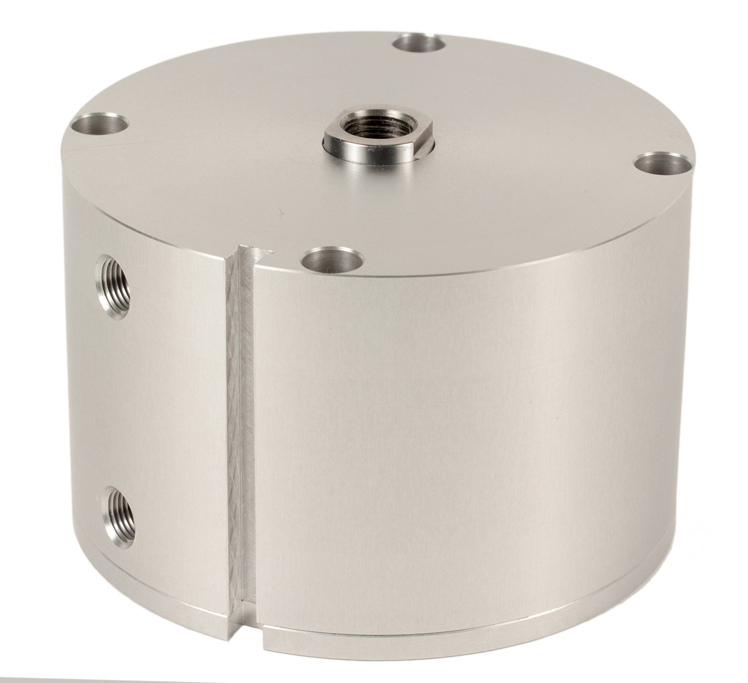 Fabco-Air F-721-X-E Original Pancake Cylinder, Double Acting, Maximum Pressure of 250 PSI, Switch Ready with Magnet, 3'' Bore Diameter x 3'' Stroke