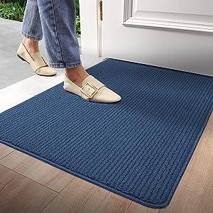 DEXI Entryway Rug Indoor Entry Doormat Front Door Rugs Non Slip Low Profile Absorbent Washable Mats for Home Entrance 19.5