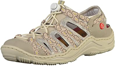 c11fe7ebdff8 Rieker Womens Bukina Leather Closed Toe Sandals L0577-60 UK 3.5 EU 36