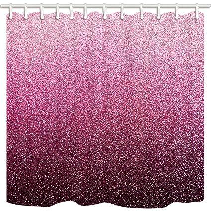 KOTOM Decor Womanly Cortinas de Ducha por, Pink Glitter para el Fondo de San Valentín