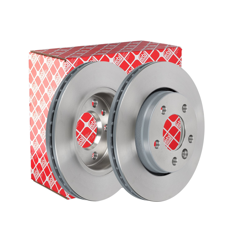 2 Bremsscheiben innenbel/üftet hinten febi bilstein 28682 Bremsscheibensatz Lochanzahl 5