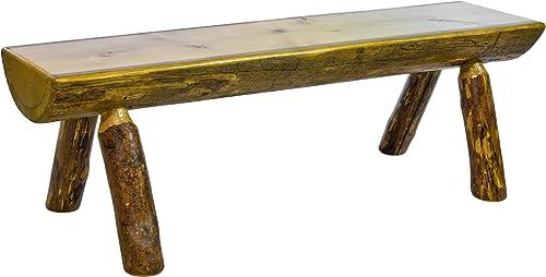 Log Furniture Dinning Room Bench