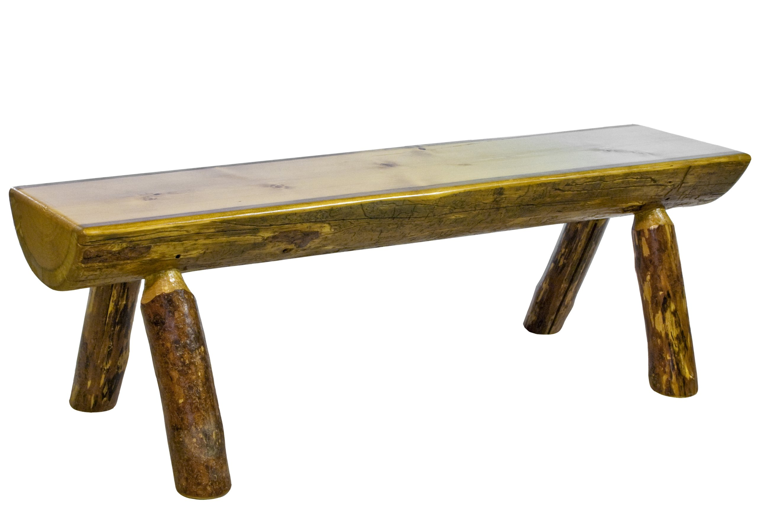 Montana Woodworks Glacier Country Collection Half Log Bench, 5-Feet by Montana Woodworks