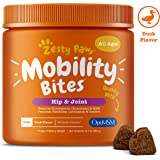 Zesty Paws Glucosamine for Dogs - Hip & Joint Supplement for Dog Arthritis Pain Relief - with Chondroitin & MSM - Advanced Na