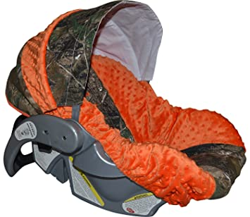Infant Car Seat Cover Baby Slip Camo With Orange