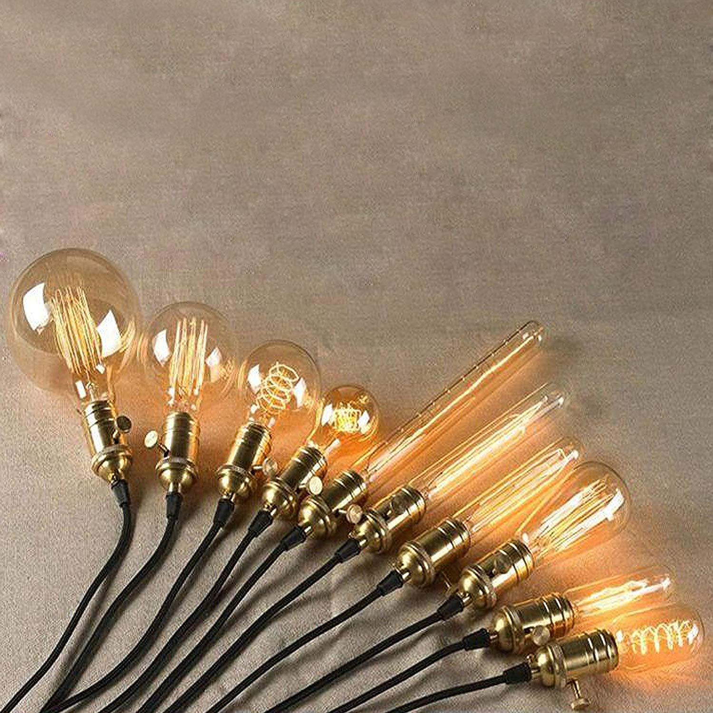 Retro Luce della Lampada a Sospensione Supporto Adattatore Holder Bronzo FLYFLY Vintage E27 Edison Portalampada con Interruttore