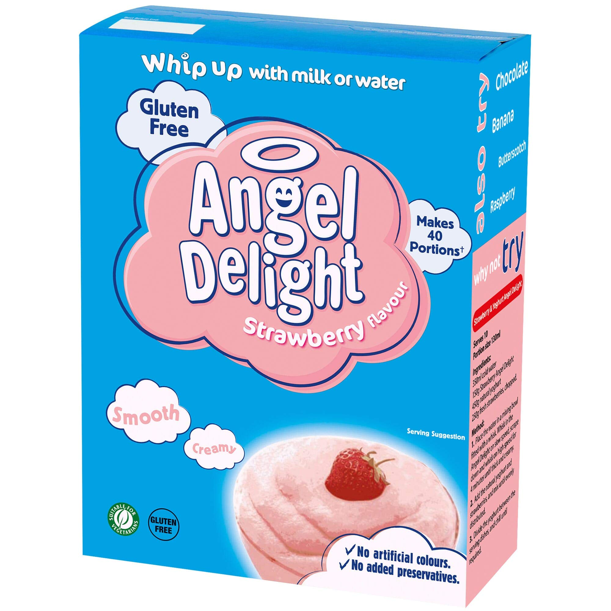 Angel Delight Strawberry Flavour Dessert Mix - 1x24ptn