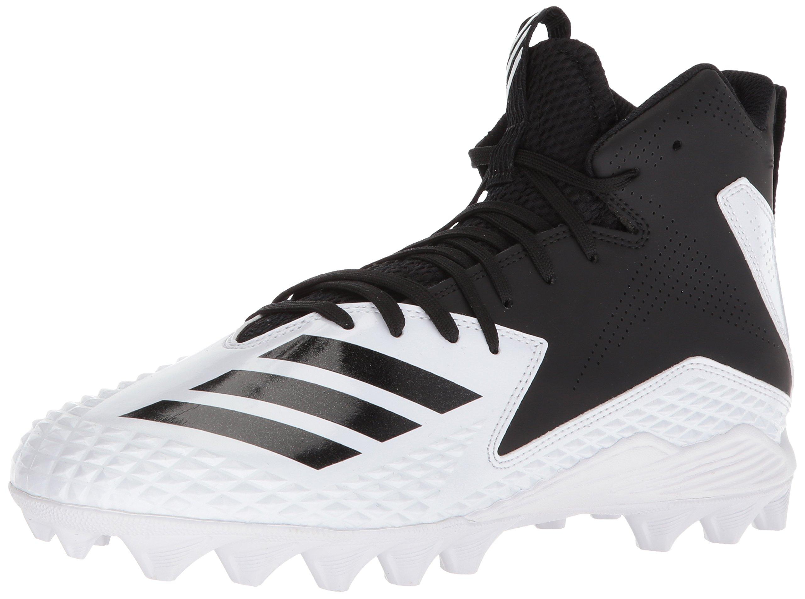adidas Men's Freak Mid MD Football Shoe, White/Black/Black, 7 M US by adidas