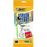 BIC Matic Fun - Paquete de 10 portaminas con mina HB de 0.7 mm, colores varios