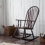 wooden rocking chair for nursery. Belham Living Windsor Indoor Wood Rocking Chair, Durable And Strong, Espresso Finished Wooden Chair For Nursery S