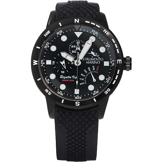 Reloj multifunción Hombre Strumento Marino Regatta VIP deportivo Cod. sm128s/BK/Nr/Nr: Amazon.es: Relojes