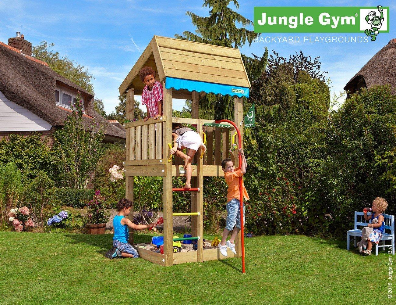 JUNGLE GYM Spielturm Jungle HOME mit Rutschstange, Komplettbausatz