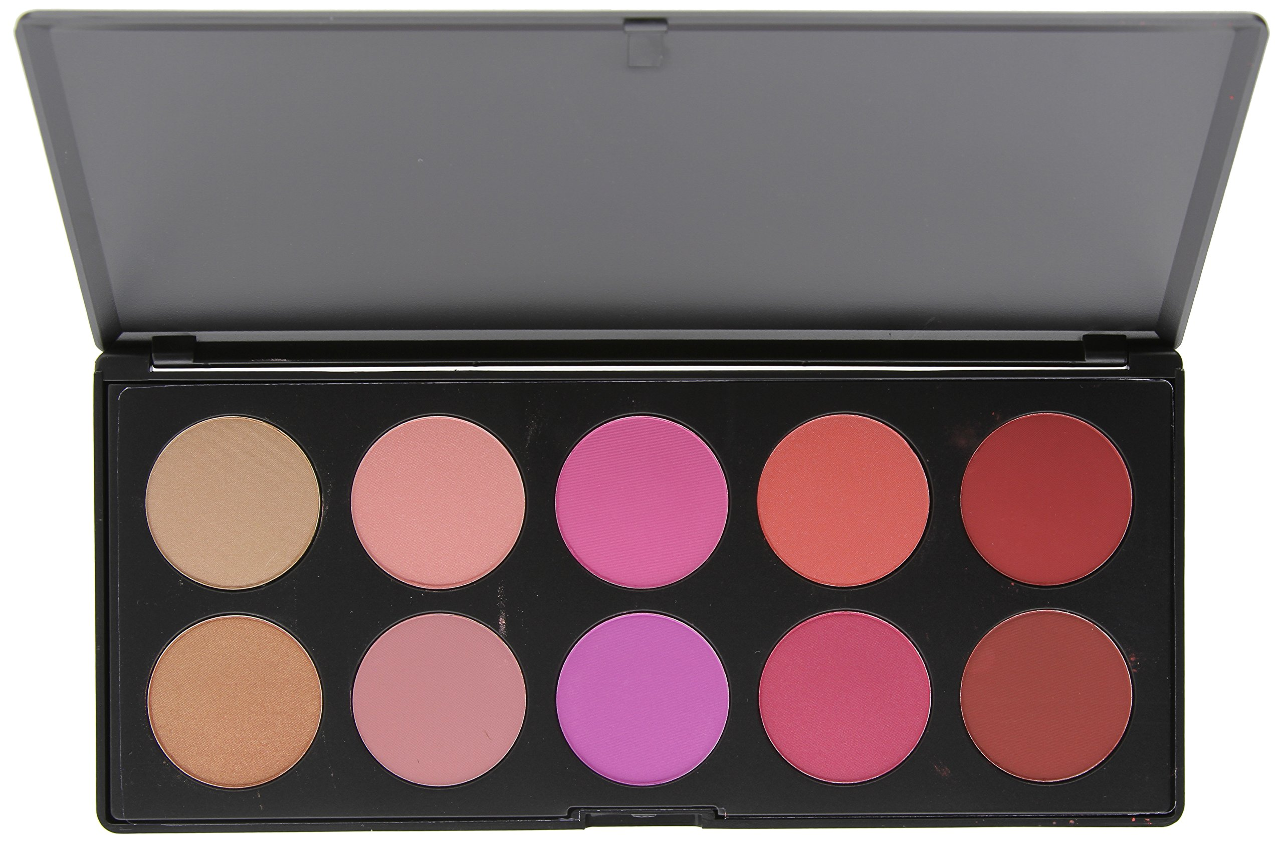 BH Cosmetics 10 Color Blush Palette, Glamorous