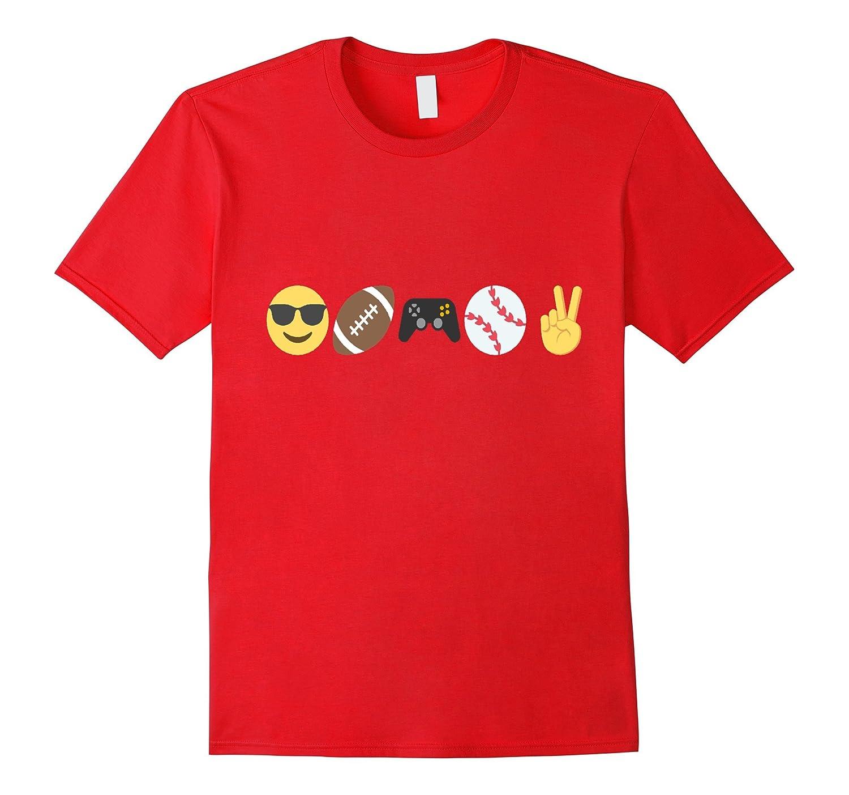 Emoji t-shirt Sunglasses Football Video Game Baseball Peace-CD