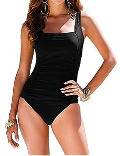 325c867c31 coastal rose Women s One Piece Swimsuit Ruched Monokini Modest Swimwear
