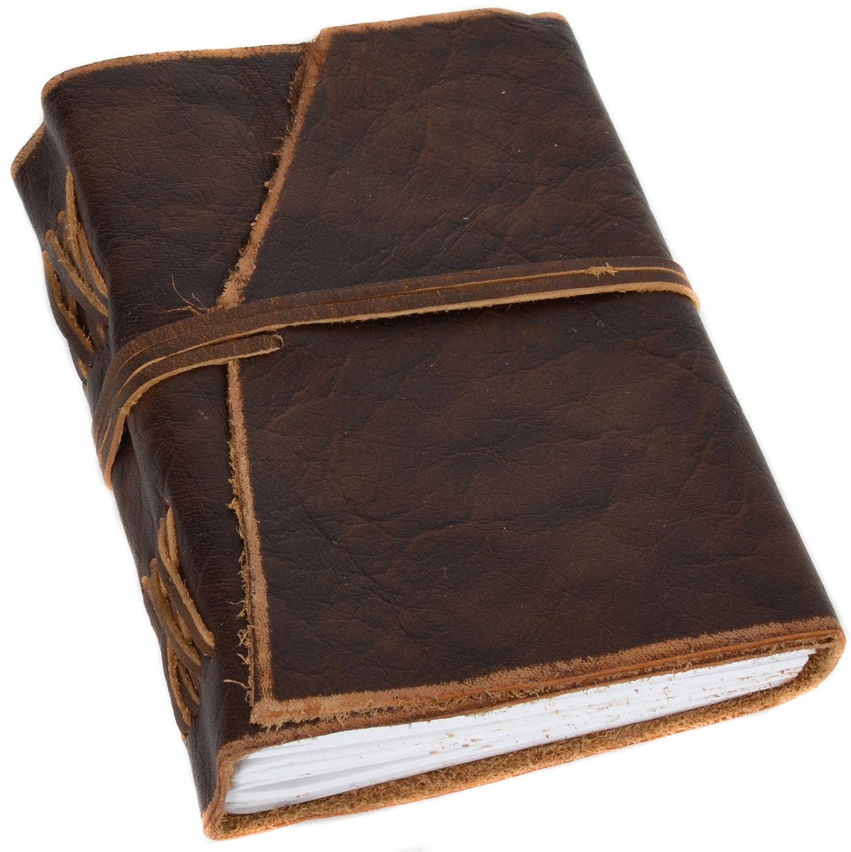 Libreta A6 200 páginas, estilo antiguo, efecto piel desgastada