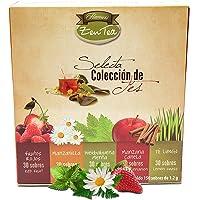 ZenTea Selecta Colección de Tés  (Manzanilla, Manzana Canela, Limón, Frutos Rojos, Hierbabuena Menta), 5 sabores x 30 sobres c/u