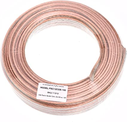 10ft 8 GA AWG Full Gauge Parallel Speaker Wire Cable Blue OFC Oxygen Free Copper