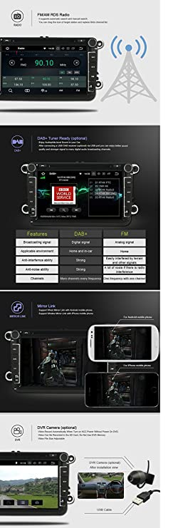 Amazon.com: Autosion Android 8.0 Octa Core 64 Bit iNand 32GB 4GB Car DVD Player GPS Stereo Head Unit Navi Radio Stereo WiFi for Hyundai Santa Fe ix45 2013 ...