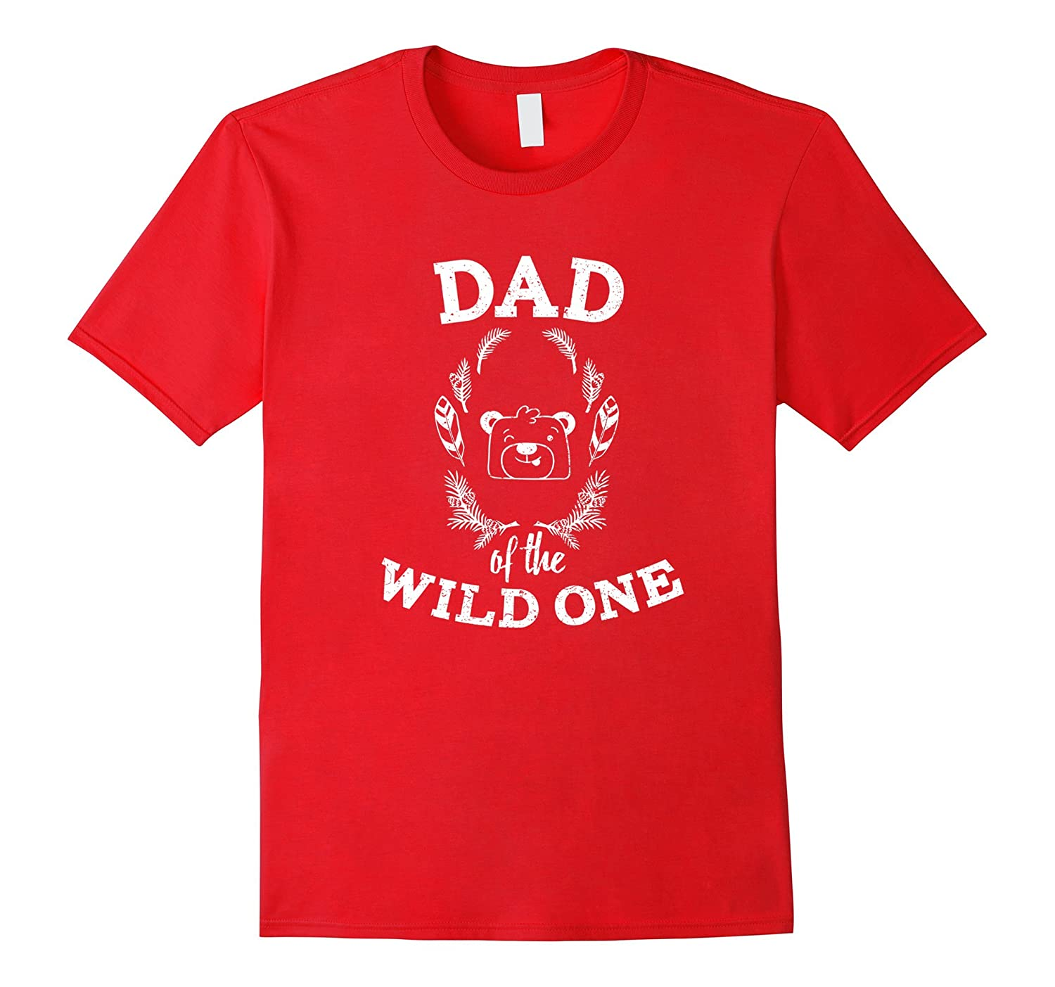 Dad Of The Wild One - Couple Family T-Shirt Men Distressed-Vaci
