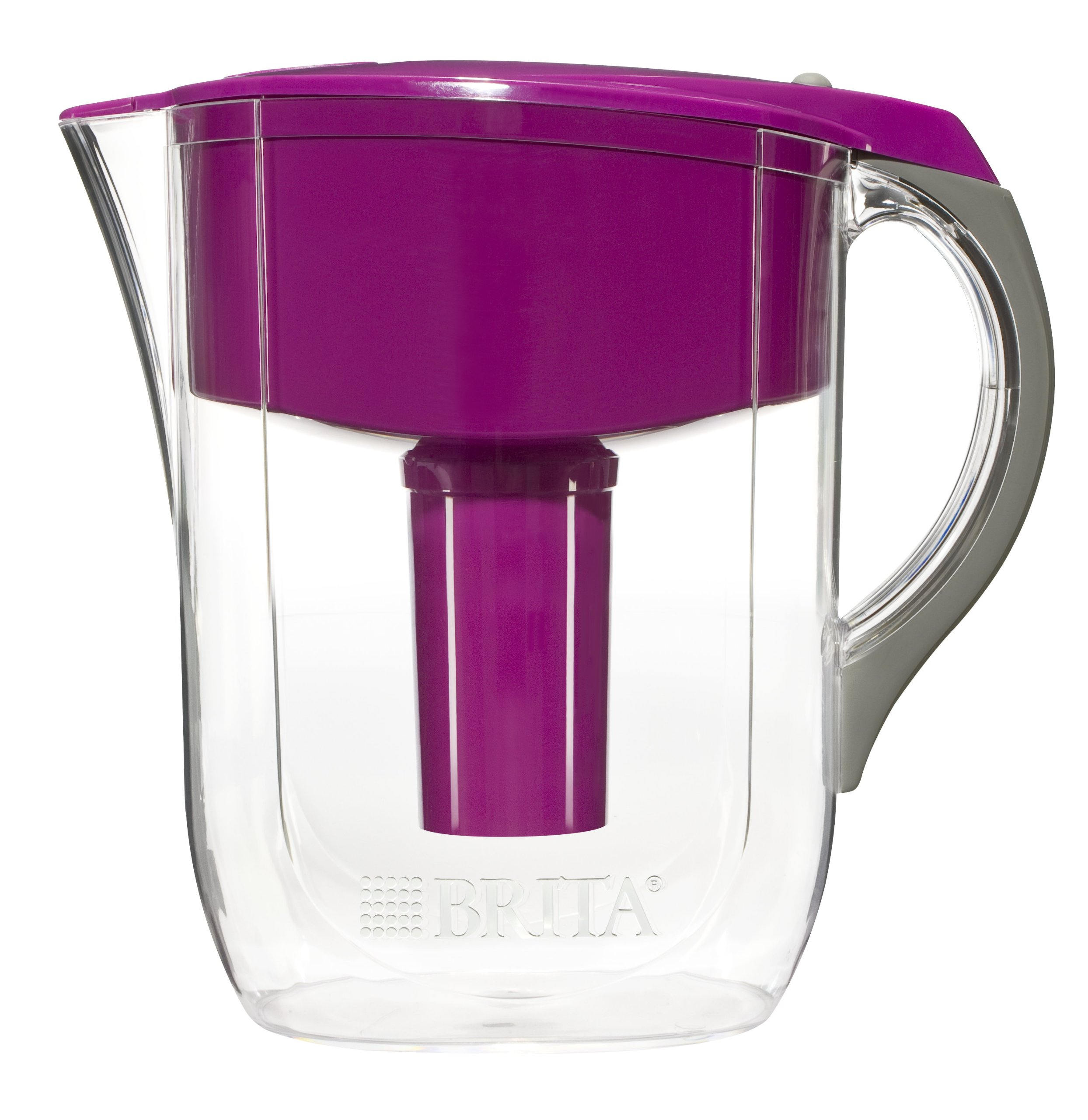 Brita Large 10 Cup Water Filter Pitcher with 1 Standard Filter, BPA Free - Grand, Violet by Brita (Image #2)