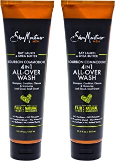 product image for Shea Moisture Bay Laurel & Shea Butter Bourbon Commodore 4-in-1 All-over-wash Pack Of 2, 10.3 Oz
