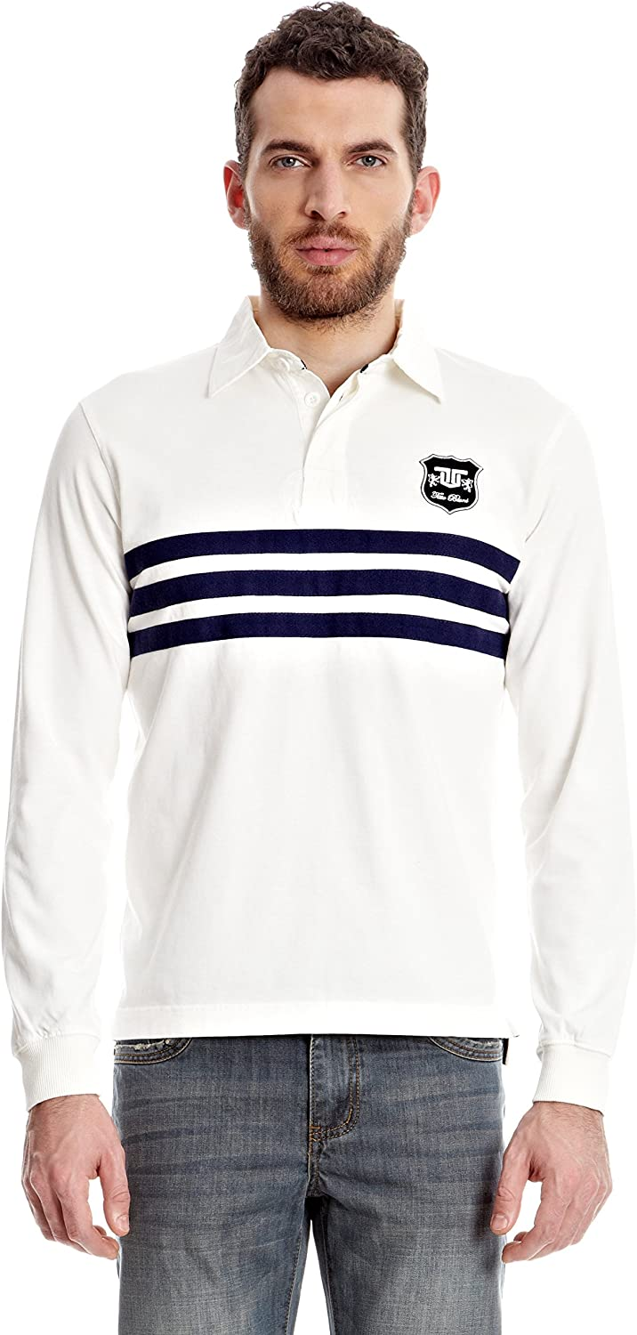 TITTO BLUNI Polo Manga Larga Blanco L: Amazon.es: Ropa y accesorios