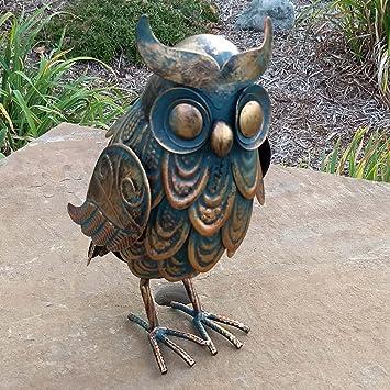 Genial Handcrafted Copper Patina Rustic Owl Metal Art Garden Sculpture Indoor  Outdoor