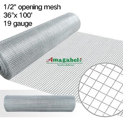 1/2 Hardware Cloth 36 x 100 19 gauge Galvanized Welded Wire Metal ...